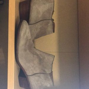 Sam Edelman Suede vin ankle boots in putty